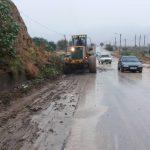 بارش شدید باران درچرام/حضوربه موقع راهداران درصحنه+تصاویر