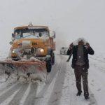 جاده سرفاریاب – باغچه سادات به دلیل بارش سنگین برف مسدود است
