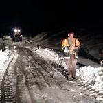 جاده ی برفگیر روستای طسوج بازگشایی شد