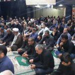 برگزاری مراسم عزاداری شب تاسوعای حسینی در حسینیه ثارالله دهدشت