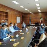 دیدار ریاست دانشگاه ازاد و معاونین با مدیر درمان تا مین اجتماعی استان